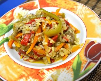 rață thai cu legume și orez