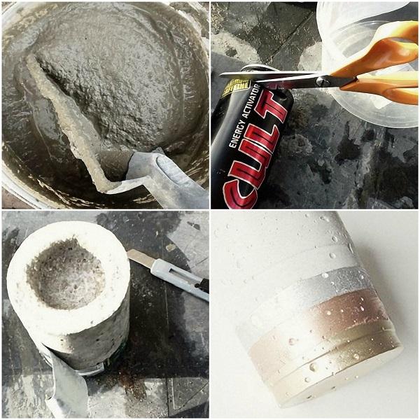 cum sa faci un suport de lumanari si obiecte de decor din ciment