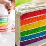 Cum să faci o prăjitură-curcubeu în câțiva pași simpli