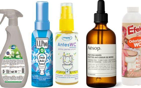 odorizante pentru eliminarea mirosurilor neplăcute din toaletă